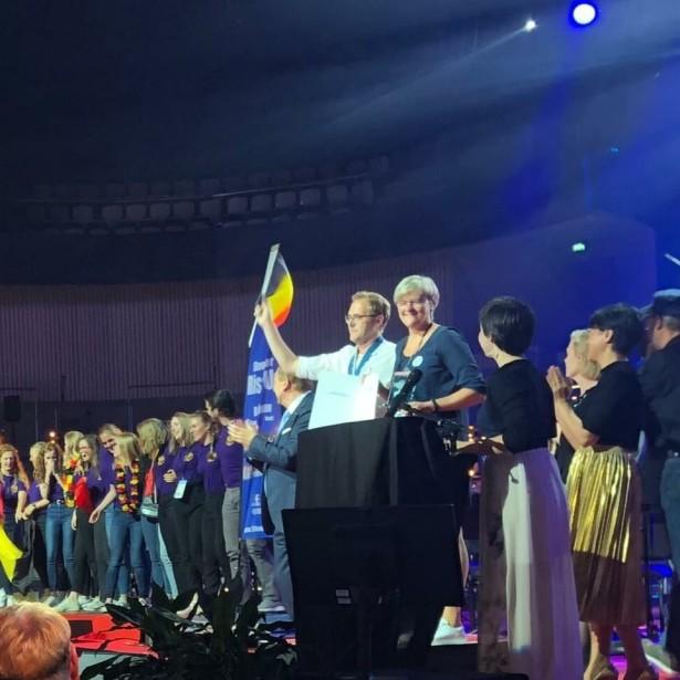 Afbeelding Showkoor Rise Up Neerpelt winnaar op European Choir Games