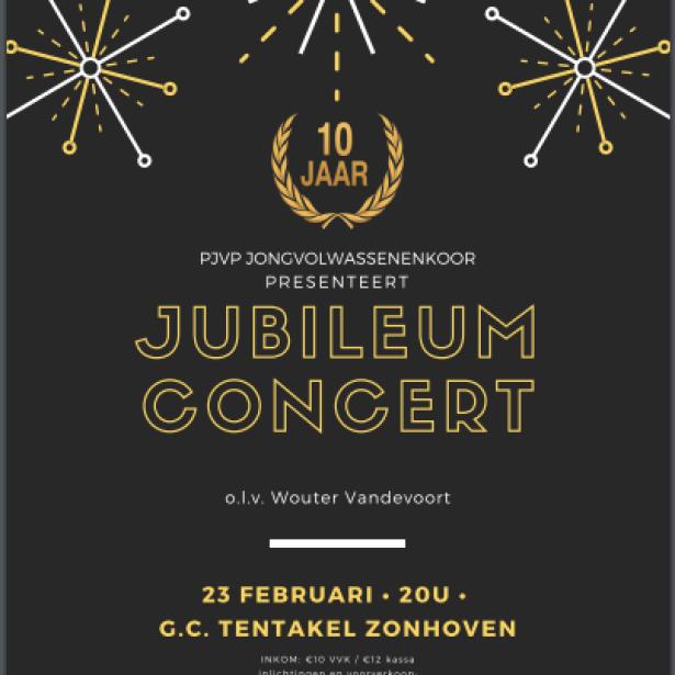Afbeelding Jubileumconcert PJVP Jongvolwassenkoor