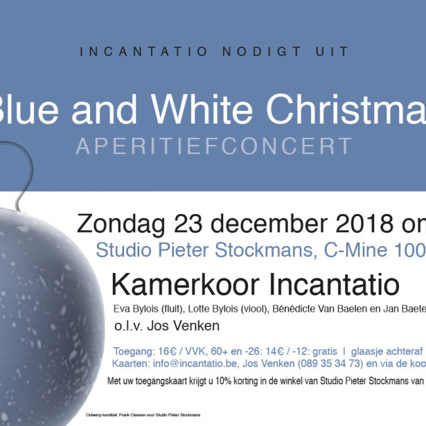 Afbeelding Blue and White Christmas