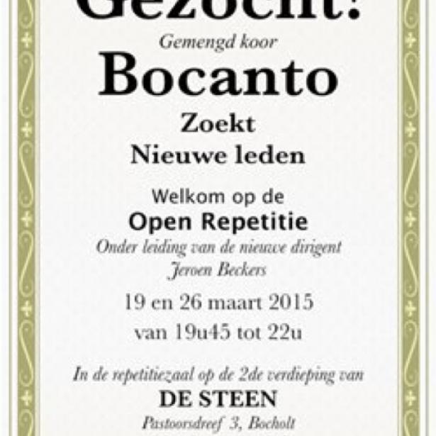 Afbeelding Open repetities met nieuwe dirigent voor Bocanto