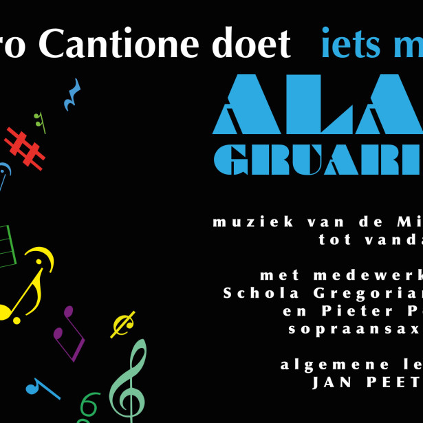 Afbeelding Pro Cantione doet iets met Alano Gruarin-Trio